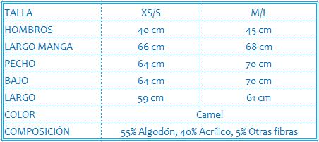 Jersey-punto-camel-abullonadas-ONA